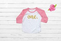 First Birthday Shirt - Girls Birthday Shirt - Girls Birthday Outfit - Birthday Shirt - I'm One - Birthday Raglan 1st Birthday Shirts, Girl Birthday, Family Shirts, Shirts For Girls, Father Son Matching Shirts, Heat Press Vinyl, Gifts For New Dads, Star Wars Baby, Baby Family