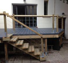 "Image search result for ""terrace on stilts"" - Terrasse ideen Image search result for terrace Steep Backyard, Backyard Patio, Pergola Designs, Deck Design, High Deck, Terrace Building, Diy Gazebo, Floating Deck, Outdoor Living Rooms"