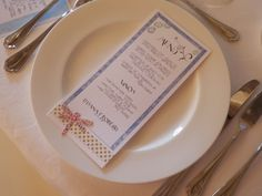El menú de la boda de Lili y Rober