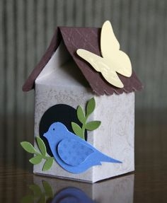 Stampin' Up! Card by Krystal De Leeuw at Krystal's Cards and More: 2010 Bird Crafts, Cute Crafts, Crafts To Make, Crafts For Kids, Paper Crafts, Milk Carton Crafts, Milk Cartons, Egg Box Craft, Mini Milk