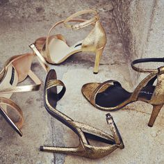 Gold Glam Sandals - SS 2016 #the5thelementshoes #rosettishowroom #springsummer #readytogo #SS2016 #gold #sparkle #leather #sandals #party #mood