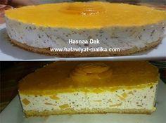 تشيز كيك بالخوخ ولا أرووع للأخت Hasnaa Dak الطريقة في الرابط: http://www.halawiyat-malika.com/2016/10/blog-post_27.html