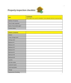 home inspection template word
