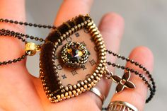 Embroidery Eye/ LV inspiration/ Peacock / OOAK. di Fantasiria su Etsy