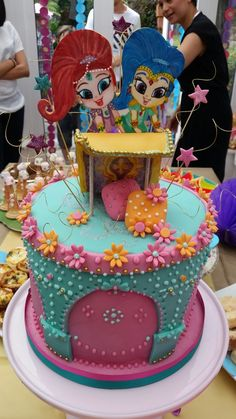 Shimmer and Shine cake Cake by Gabi Marx at Fancy that cakes