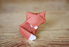Make this origami fox with a paper with a bit of body to create a more dimensional figure. Designed by Daniel Chang diagrammed by Marc Sky