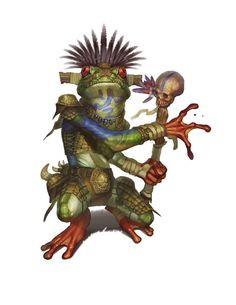 frog cleric [Boggard Priest-King by Eric Belisle] Fantasy Races, Fantasy Warrior, Fantasy Rpg, Fantasy Inspiration, Character Inspiration, Character Concept, Character Art, Dnd Monsters, Fantasy Monster