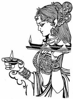 Drawing art line paintings trendy ideas Art Sketches, Art Drawings, Pen Sketch, Drawing Art, Beautiful Art Pictures, Dancing Drawings, Tanjore Painting, Indian Folk Art, Indian Art Paintings