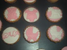 Cupcakes para la Baby Shower de Gala!!