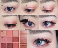 Pin by Amara on Makeup in 2019 Korean Makeup Look, Korean Makeup Tips, Asian Eye Makeup, Makeup Eye Looks, Korea Makeup Tutorial, Korean Makeup Tutorial Natural, Ulzzang Makeup Tutorial, Asian Makeup Tutorials, Eyeshadow Tutorials