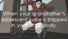 This actually bugs me so bad.  I want to cry every time I hear him talk because I miss Zuko so bad!