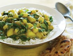 Yukon Gold and Baby Spinach Masala Recipe   Vegetarian Times