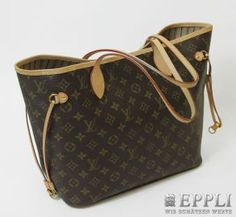 "LOUIS VUITTON latest Shopper bag model ""NEVERFULL MM"". Toile Monogram, current NP? 660, - enclosed, date code AR2181, invoice and dust bag, VERY NICE UNC! Starting price: € 300.00"