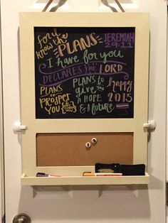 Jeremiah 29:11 chalkboard for New Year 2015