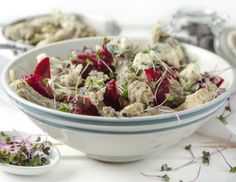 Pasta, Potato Salad, Cabbage, Potatoes, Vegetables, Ethnic Recipes, Food, Poppy Seed Cake, Blue Cheese