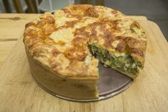 Torta de Brócolis com Queijo e Bacon do Chef Roberto Ravioli