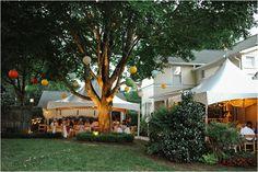 southern backyard wedding reception