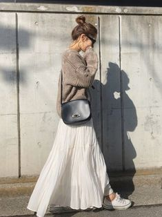ファッション ファッション in 2020 Long Skirt Outfits, Diy Outfits, Mode Outfits, Fall Outfits, Casual Outfits, Modest Fashion, Hijab Fashion, Korean Fashion, Fashion Outfits