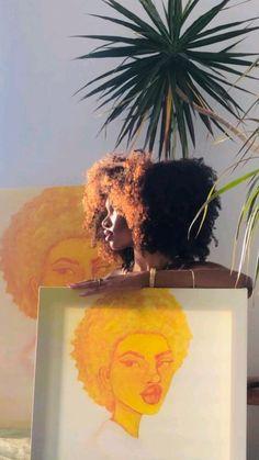 Black Girl Art, Black Women Art, Art Girl, Black Girls, Art Hoe Aesthetic, Black Girl Aesthetic, Aesthetic People, Arte Aries, Estilo Hip Hop