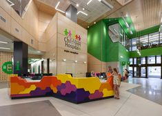 Children's hospital has vibrant facade and tree-inspired layout