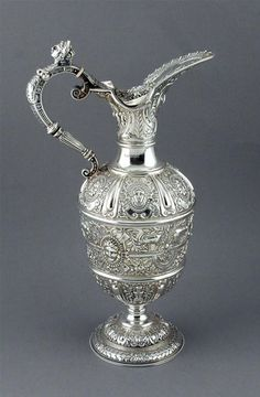 Cellini Pattern Ewer Sheffield 1902 by James Dixon and Sons