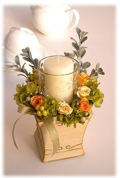 candle & preservedflower