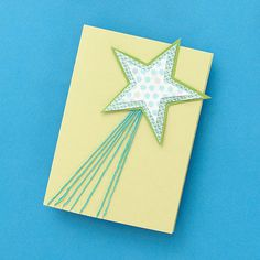 Kids will love making different variations of this adorable star holiday card!