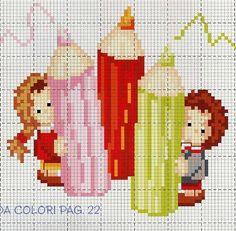 Small Cross Stitch, Cross Stitch For Kids, Cross Stitch Baby, Cross Stitching, Cross Stitch Embroidery, Cross Stitch Patterns, Cross Stitch Bookmarks, Alpha Patterns, Needlework