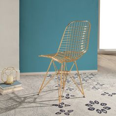 Tania Iron Accent Chair - Rose Gold - Abbyson