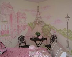 paris room kids | Murals For Kids | Orlando Mural Artist| Children Rooms Murals ...
