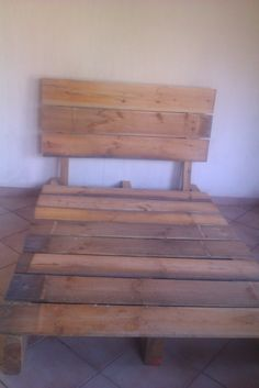 Pallet bed frame and headboard