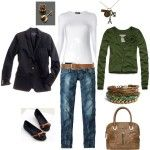 Daily Outfits 2012 | Casual in Navy/Green