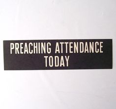 vintage church billboard sign preaching by RecycleBuyVintage, $10.00