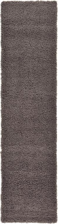 Graphite Gray Solid Shag Area Rug