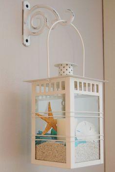 DIY Hanging lantern with beach elements - Diy Art Crafts. Diy home decor on a budget