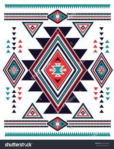 Navajo Aztec Big Pattern Vector Illustration - 245016655 : Shutterstock