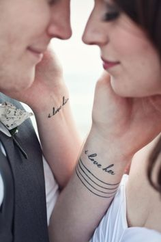 word tattoo, phrase tattoo, quote tattoo, body art, tattoo placement, couples tattoo