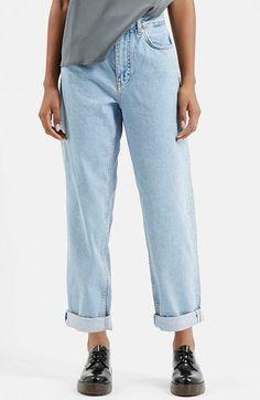 TOPSHOP+Boutique+Vintage+Boyfriend+Jeans+(Blue)+available+at+#Nordstrom