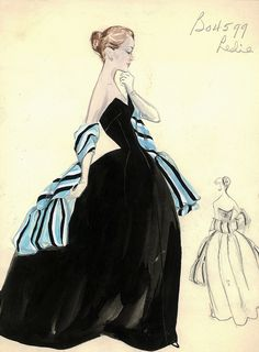 Leslie Morris Evening Gown by FIT Library Department of Special Collections, via Flickr