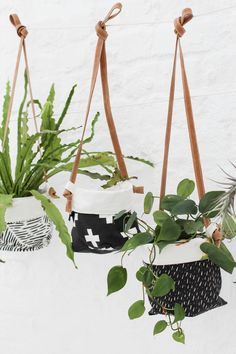 Hanging Soft Pots with Genuine Leather Strap - Zana Products                                                                                                                                                                                 More