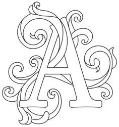 Letter Perfect - Letter A | Urban Threads: Unique and Awesome Embroidery Designs--each design is $1---and each is different---I am so buying all of these!