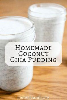 Homemade Coconut Chia Pudding Chai Pudding, Coconut Chia Pudding, Coconut Milk Recipes, Canned Coconut Milk, Chia Seed Pudding Healthy, Overnight Chia Pudding, Overnight Oats, Chia Seed Pudding Recipe Coconut Milk, Toasted Coconut