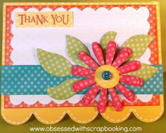 Obsessed with Scrapbooking: Make a Quick Creative Card
