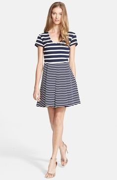 Joie 'Chikara' Stripe Fit & Flare Dress available at #Nordstrom