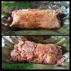 Pepes kakap and pepes udang