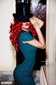 Rihanna - Glamour USA September Photography by Ellen von Unwerth. Ellen Von Unwerth, Christina Aguilera, Britney Spears, Vanity Fair, Looks Style, Style Me, Classic Style, Estilo Pin Up, Glamour Magazine