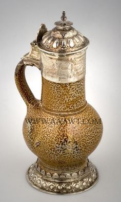 Decorated Rustic Medieval Manufactured In Germany Enthusiastic Antique Set Jugs Cerveza
