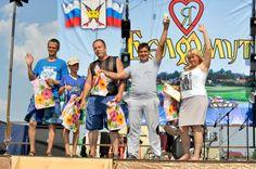 Награждение рыбаков. Царская уха в Белоомуте 2016 г. Иосипенко Александр #Белоомут #уха #царская #праздник