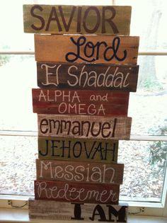 Pallet Art Bible Verse Series Names of God by HollysHobbies
