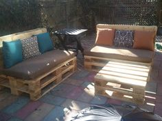 Pallet patio furniture pallet projects pallet outdoor furniture ideas pallet pertaining to pallet garden furniture design . Pallet Garden Furniture, Outdoor Furniture Plans, Furniture Projects, Furniture Making, Home Furniture, Furniture Design, Modern Furniture, Furniture From Pallets, Antique Furniture